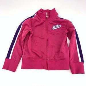 Nike 4T Girls Pink Retro Track Jacket